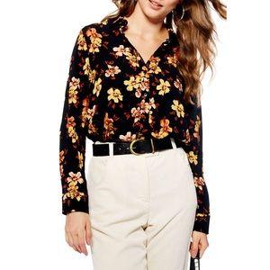 TOPSHOP Retro Floral Blouse